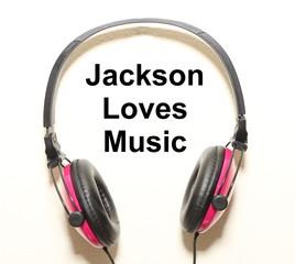 Jackson Loves Music Headphone Graphic Original Design