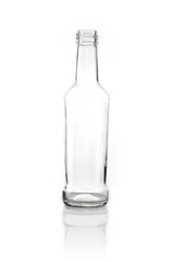 glass bottle isolated white