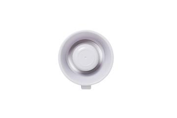 plastic electronic megaphone isolated white