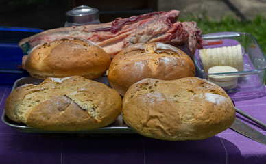 beautiful and good bread on the table