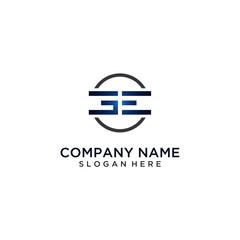 GE letter logo design