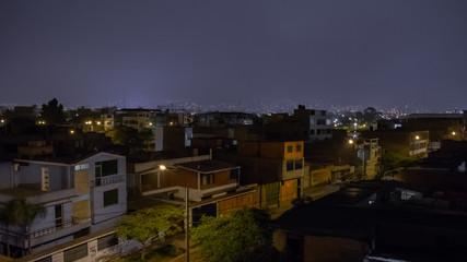 Small city at night