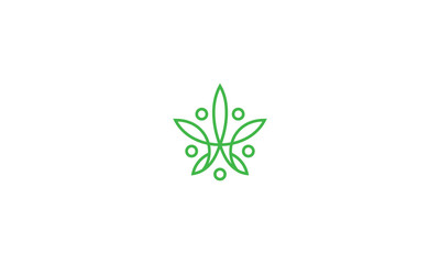 cannabis logo icon vector