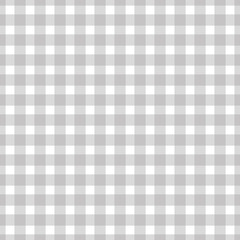 Seamless plaid, check pattern gray and white. Design for wallpaper, fabric, textile, paper. Simple background