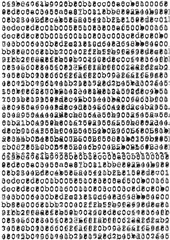 Destroyed typewriter font letters background.