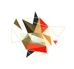 Vector triangle abstract background, low poly concept