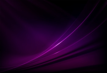 Dark purple background with smooth gentle lines with glitter.