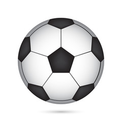 Ball for soccer or football on green color background