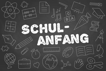 Schulanfang / Tafel mit Kreide Vector Illustration