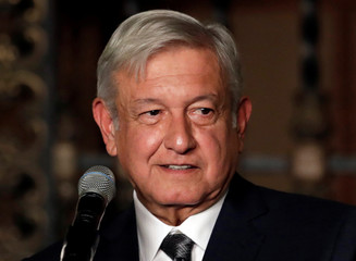 Mexico's incoming president Andres Manuel Lopez Obrador makes declarations to the media after a meeting with President Enrique Pena Nieto, in Mexico City