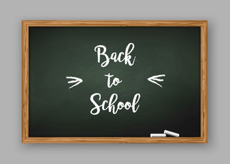 Back to School text on Chalkboard
