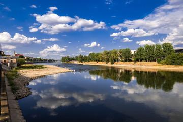 Magdeburger Domfelsen bei Niederigwasser