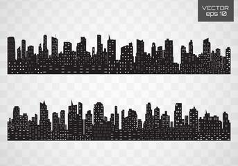 City skyline. Flat style.