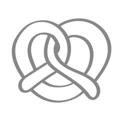 Handgezeichnete Brezel in grau