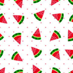 watermelon on a dots background