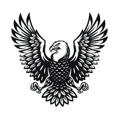 eagle symbol illustration. Icon design on white background.