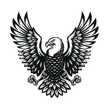 eagle symbol illustration. Icon design on white background.