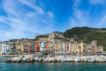 Portovenere from the sea, Italy