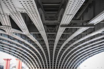 Printed roller blinds Bridge Abstract view under the Blackfriars railway bridge in London