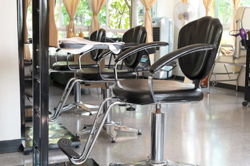 Beautiful Indoor Salon shop, Clean and Modern Design Hairdresser Business.