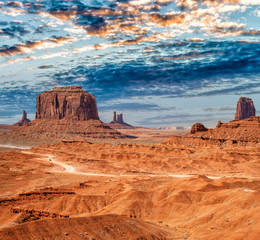 Monument Valley National park on a beautiful summer day