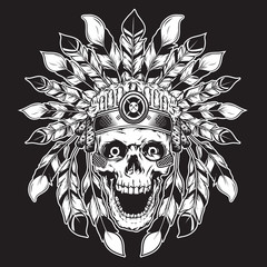 skull illustration background for shirt design with black white concept