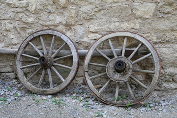 Old wheels from the cart
