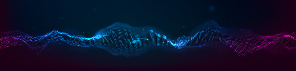Music abstract background. Equalizer for music, showing sound waves with musical waves, the concept of a music equalizer vector. Fototapete