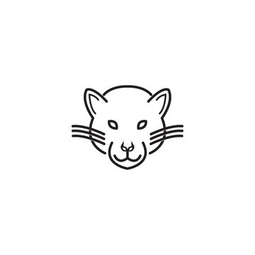 Head panther vector logo template