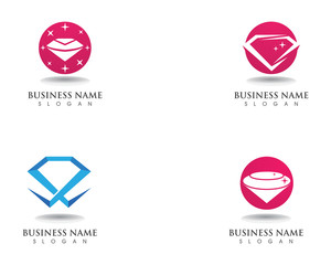 Diamond logo symbol vector template icon