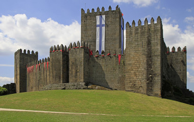 Guimaraes castle and surrounding park, the northern Portugal