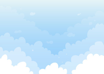 White clouds on blue sky background for ads and banners or backgrounds