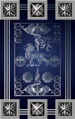 Graphical illustration of a Tarot card 1_2