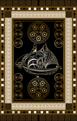 Graphical illustration of a Tarot card 4