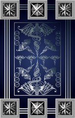 Graphical illustration of a Tarot card 5_2
