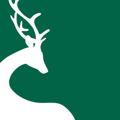 Reindeer Background Square Green