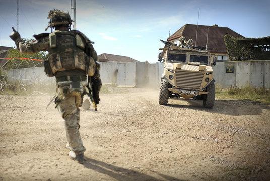 British Army training for desert deployment