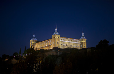 Night view of Toledo Spain
