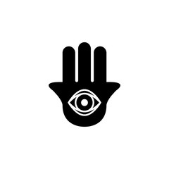 Hamsa hand sign icon. Element of religion sign icon for mobile concept and web apps. Detailed Hamsa hand icon can be used for web and mobile