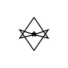 Thelema Unicursal hexagram sign icon. Element of religion sign icon for mobile concept and web apps. Detailed Thelema Unicursal hexagram icon can be used for web and mobile