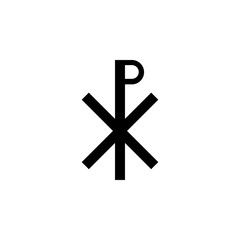 Christianity Chi Rho sign icon. Element of religion sign icon for mobile concept and web apps. Detailed Christianity Chi Rho icon can be used for web and mobile