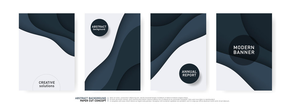 Paper Cut Wave Shapes Curve. Modern Origami Design for Business Presentations, flyers, posters, banner, brochure. vector illustrator