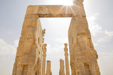 Entrance gate to Persepolis Persia Iran Gate of All Nations