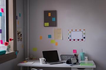 Desk of fashion designer