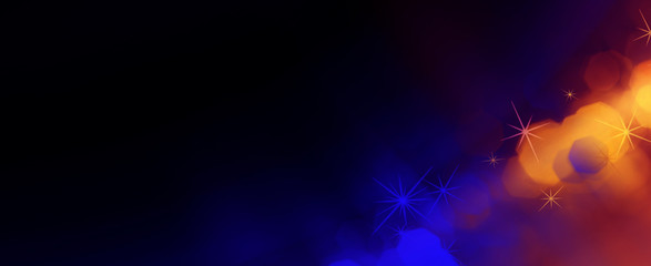 Abstract dark bokeh background, purple and pink, festive cover background