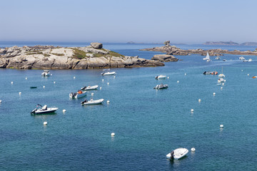 small port in french brittany