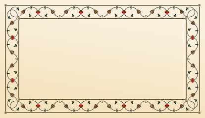 Floral frame, indian/arabic ornement