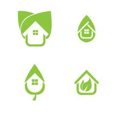 eco real estate concept vector flat design