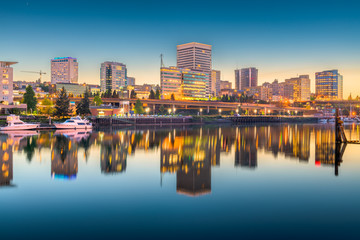 Fotomurales - Tacoma, Washington, USA Skyline
