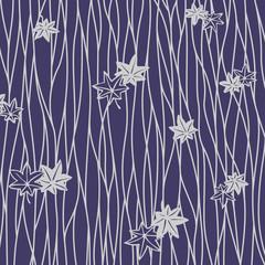 Japanese purple leaf pattern
